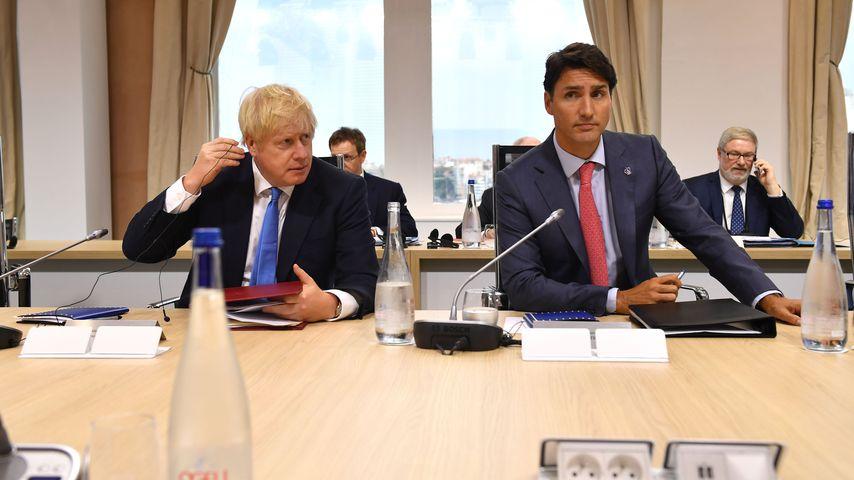Boris Johnson und Justin Trudeau beim G7-Gipfel in Frankreich
