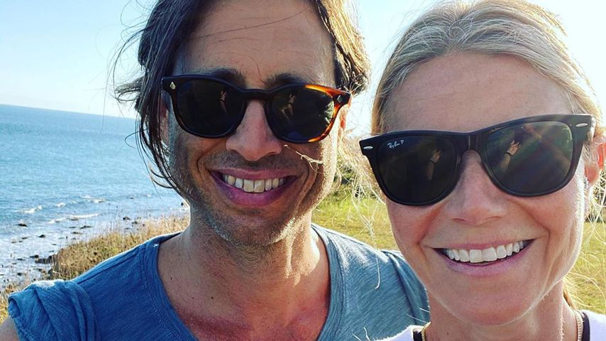 Brad Falchuk und Gwyneth Paltrow an ihrem ersten Hochzeitstag