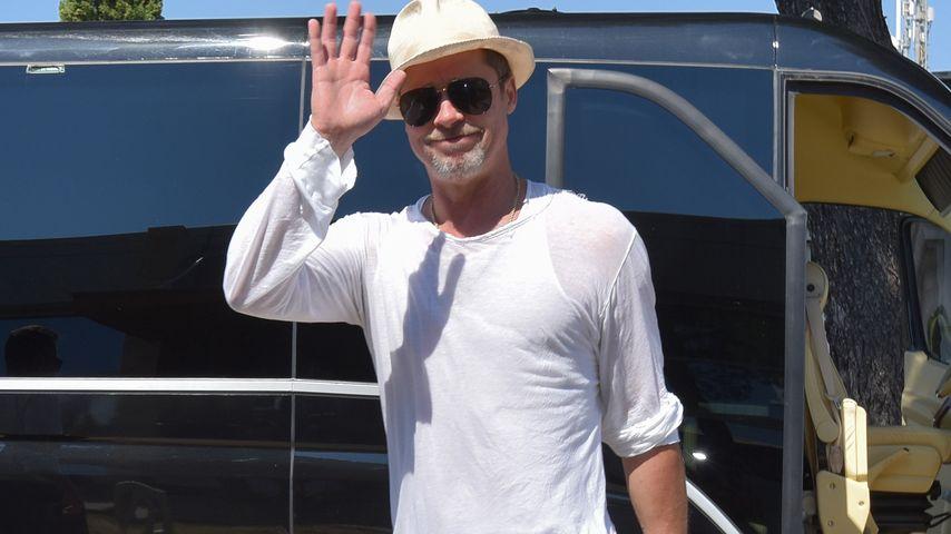 Brad Pitt am Nadar Flughafen in Kroatien