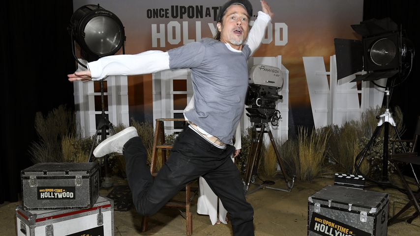 Total gelöst: Brad Pitt auf Film-Promotour wieder mega-happy