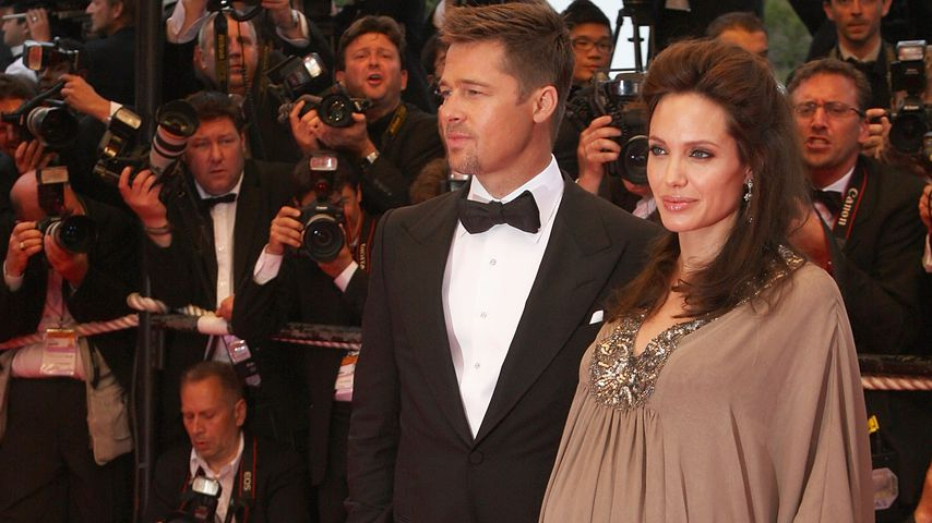 Brad Pitt und Angelina Jolie 2008 in Cannes