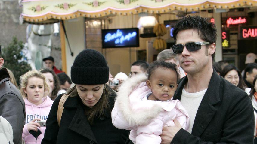 Brad Pitt und Angelina Jolie mit Tochter Zahara