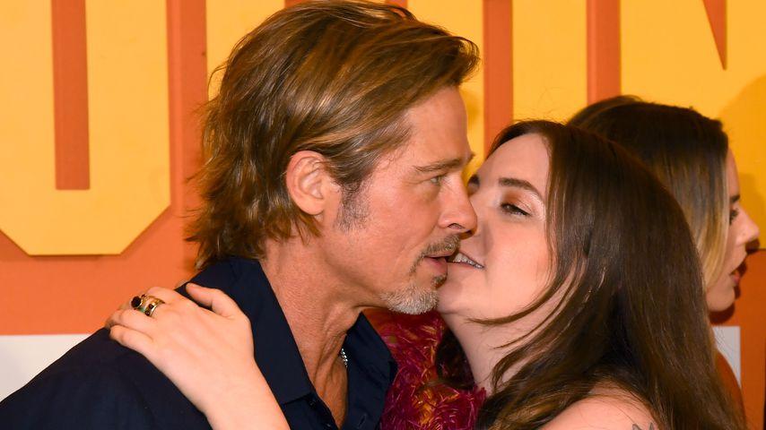 Co-Star-Küsse! Brad Pitt wird von Lena Dunham abgeknutscht