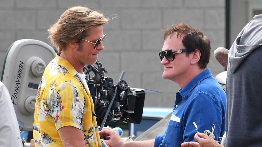 "Brad Pitt und Quentin Tarantino am Set von ""Once Upon a Time... in Hollywood"""