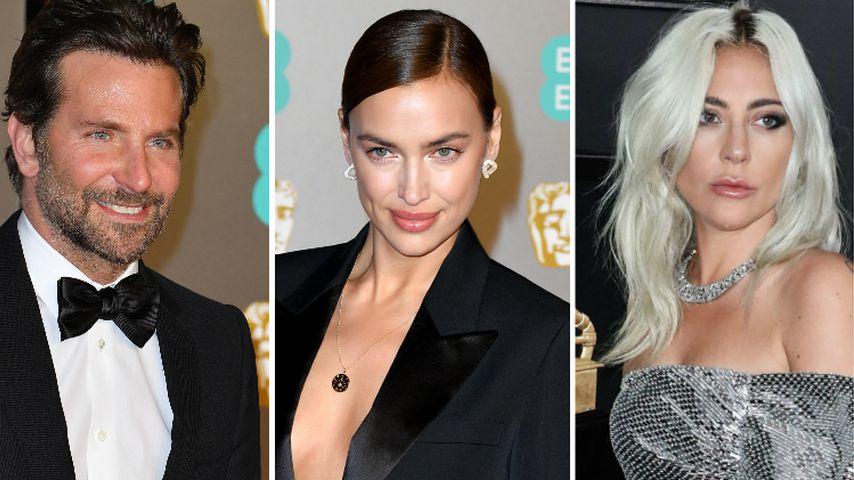 Eifersüchtig? Irina sitzt bei Oscars zwischen Bradley & Gaga