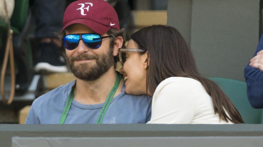 Tennis-Fan Bradley Cooper und Irina Shayk