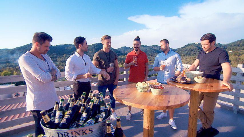 Brian, Alex, Dave, Kevin und Stefan mit Nadines Kumpel Tobi (2.v.l.)