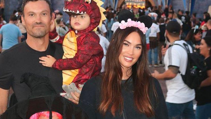 Brian Austin Green und Megan Fox mit ihren drei Kindern