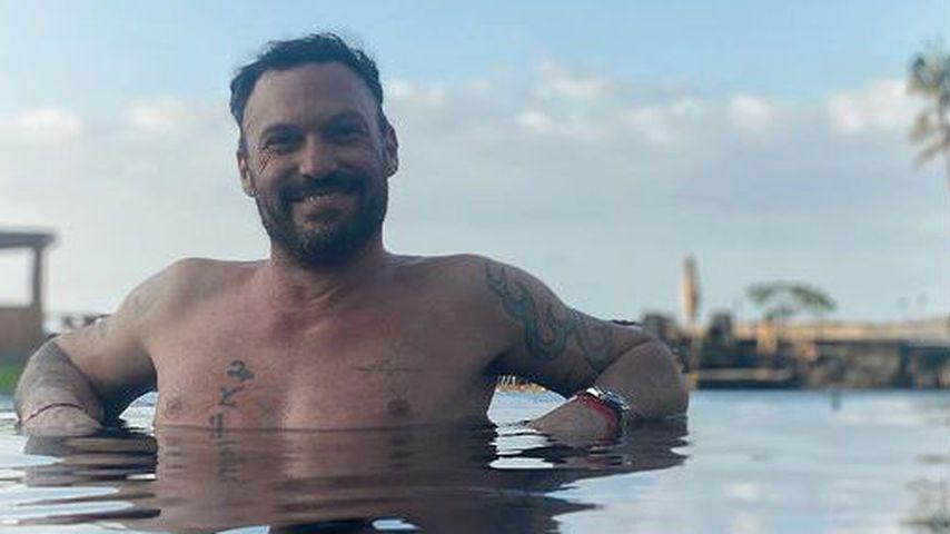 Schauspieler Brian Austin Green im Pool, Januar 2021