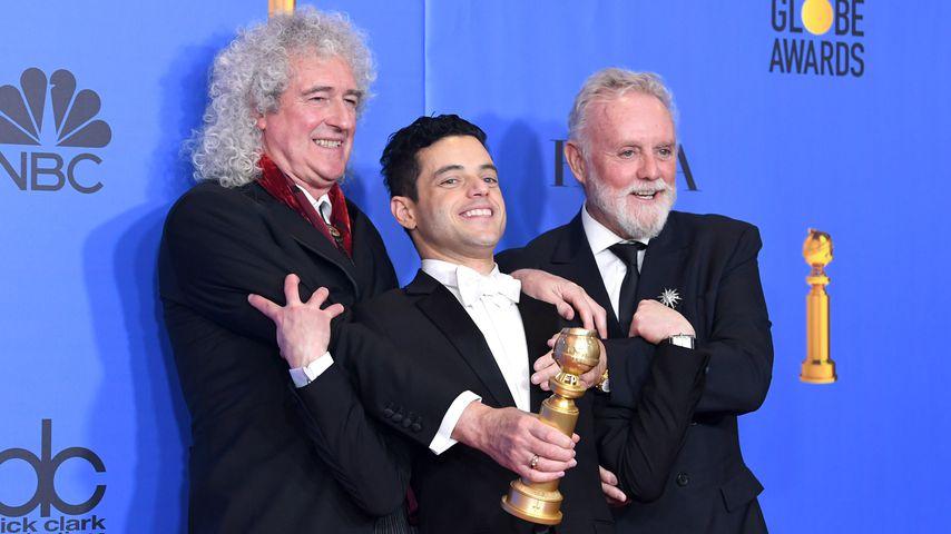 Brian May, Rami Malek und Roger Taylor bei den Golden Globes