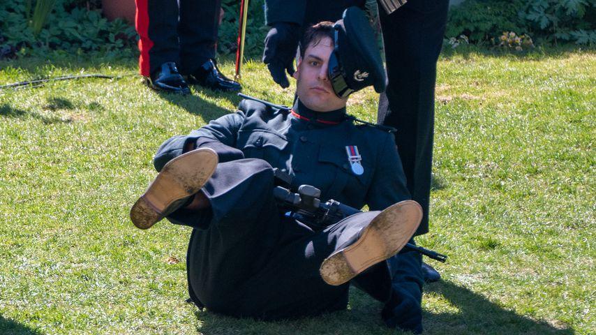 Britischer Soldat bei Prinz Philips Beisetzung im April 2021