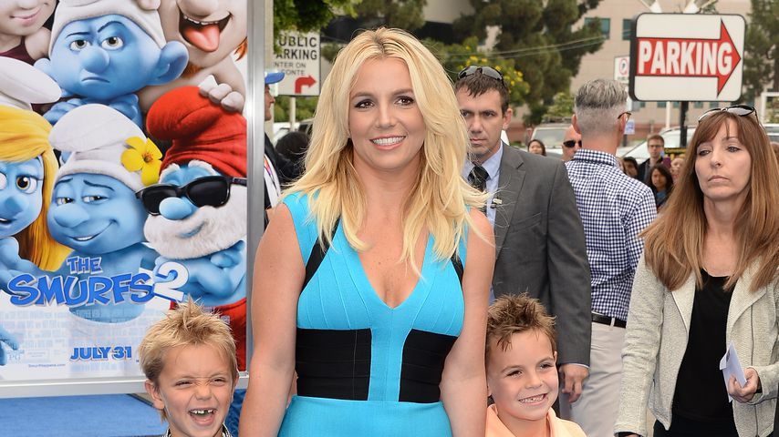 Britney Spears mit ihren Söhnen Jayden und Sean Preston, 2013