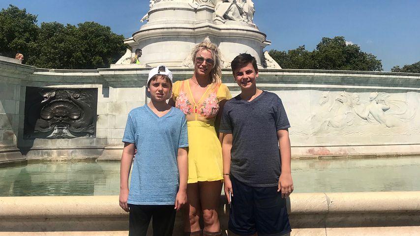 Britney Spears mit ihren Söhnen Jayden und Sean