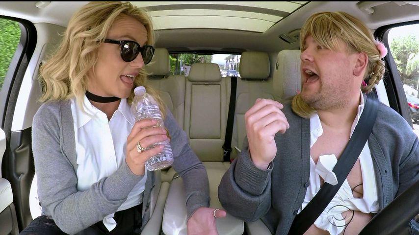 Britney Spears und James Corden beim Carpool Karaoke