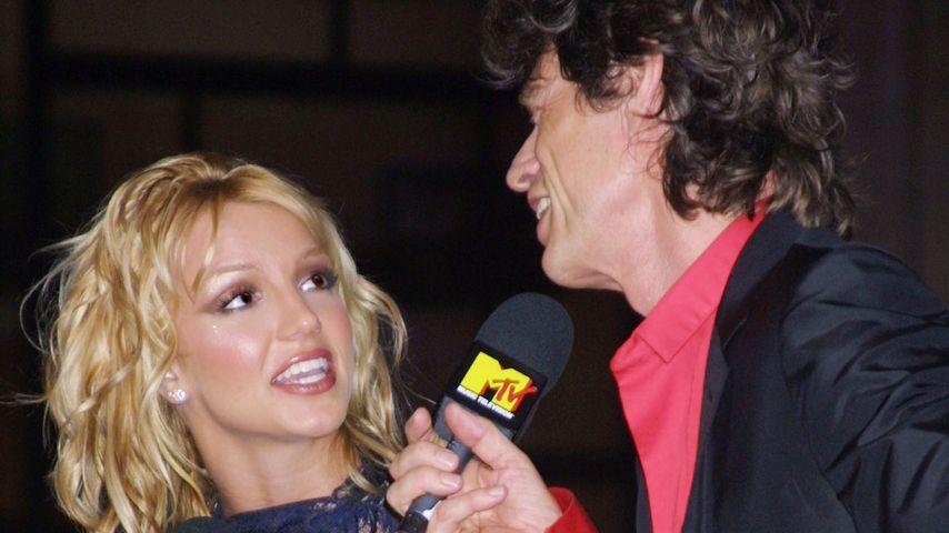 Britney Spears und Mick Jagger bei den MTV Video Music Awards 2001