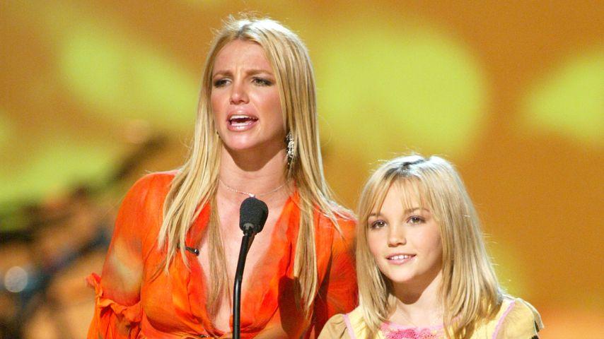 Britney und Jamie Lynn Spears im August 2002 in Los Angeles