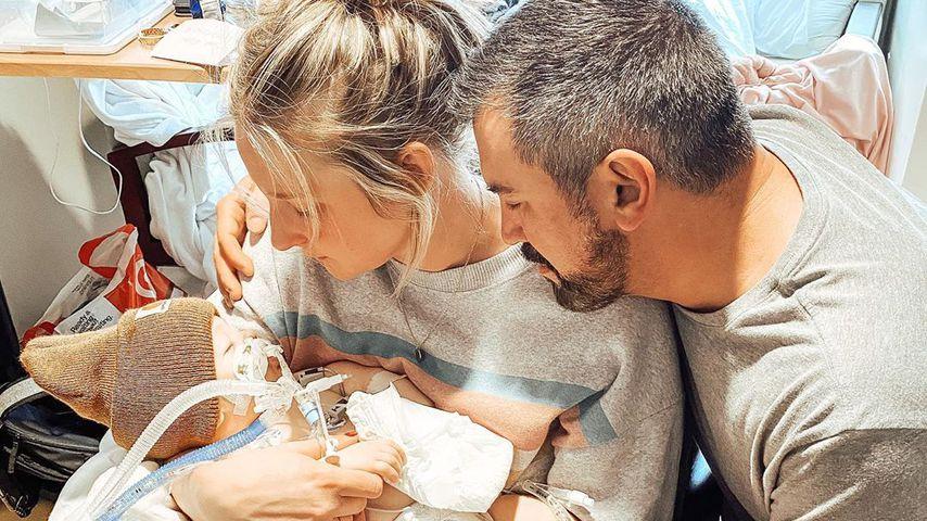 Brittani Boren Leach mit ihrem Ehemann Jeff und ihrem Sohn Crew