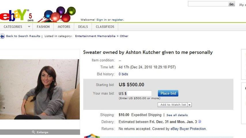 """Ashton Kutchers """"Affäre"""" versteigert seinen Pulli"""