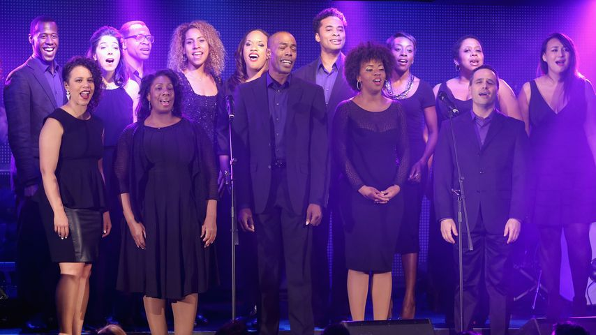"""Broadway Inspirational Voices""-Chor beim Disney's Musical Birthday Tribute to Stephen Sondheim 2015"