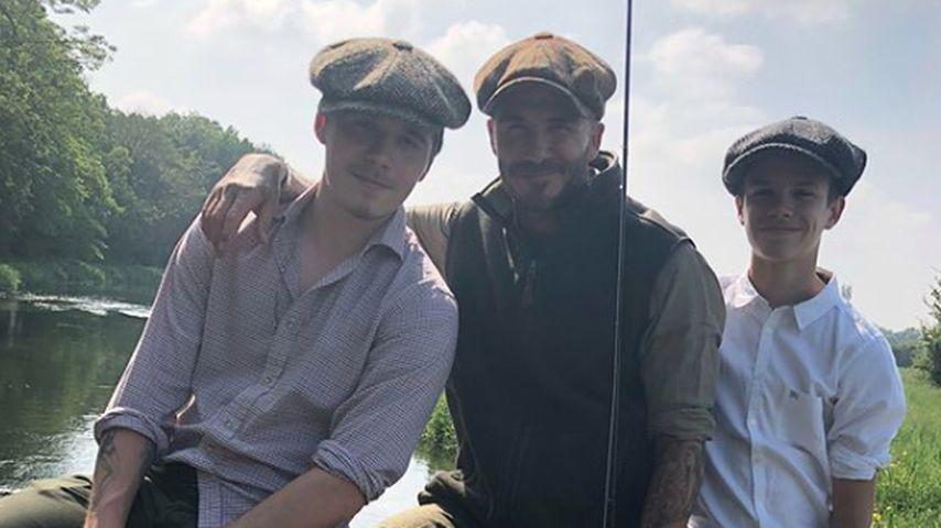 Brooklyn, David und Romeo Beckham