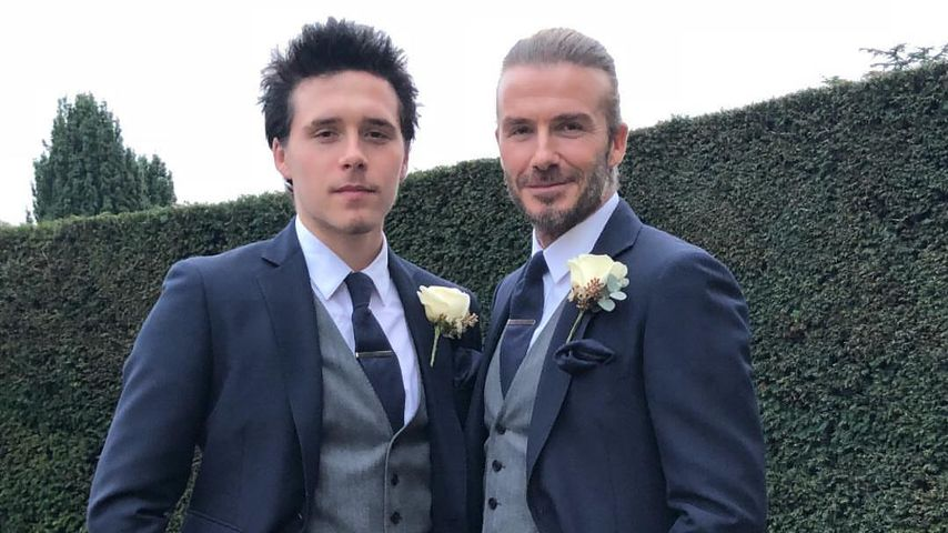 Wie Zwillinge: David & Brooklyn Beckham tragen Partnerlook!