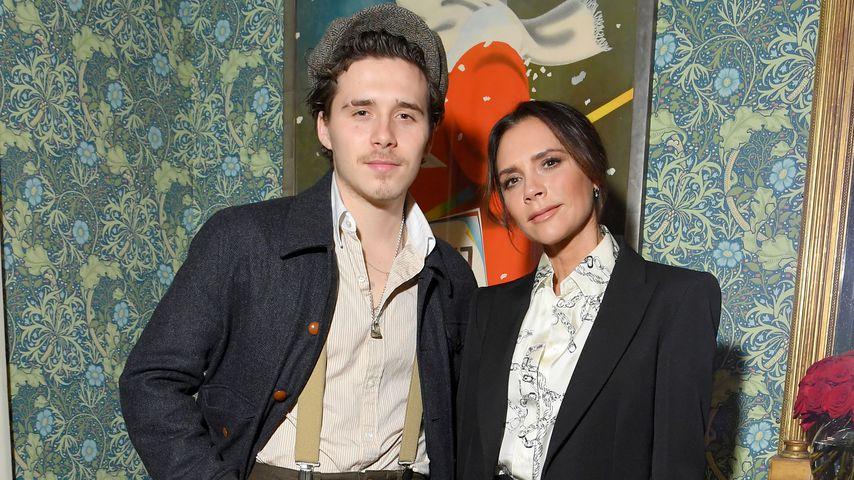 Brooklyn und Victoria Beckham, Februar 2019