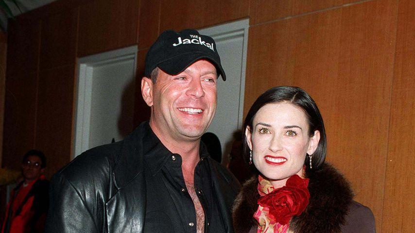 """Bruce Willis und Demi Moore bei der Premiere von """"The Jackal"""""""