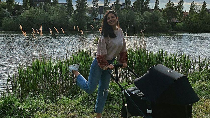 Bruna Rodrigues mit ihrer Tochter Violetta