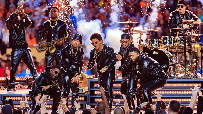 Bruno Mars beim 50. Superbowl