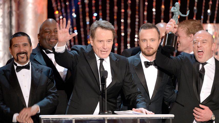 """""""Breaking Bad""""-Kollegen Bryan Cranston, Aaron Paul und Dean Norris beim Screen Actors Guild Award"""
