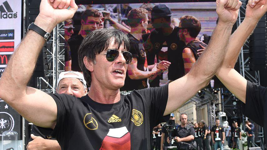 Bundestrainer Jogi Löw bei der Siegesfeier zur WM 2014