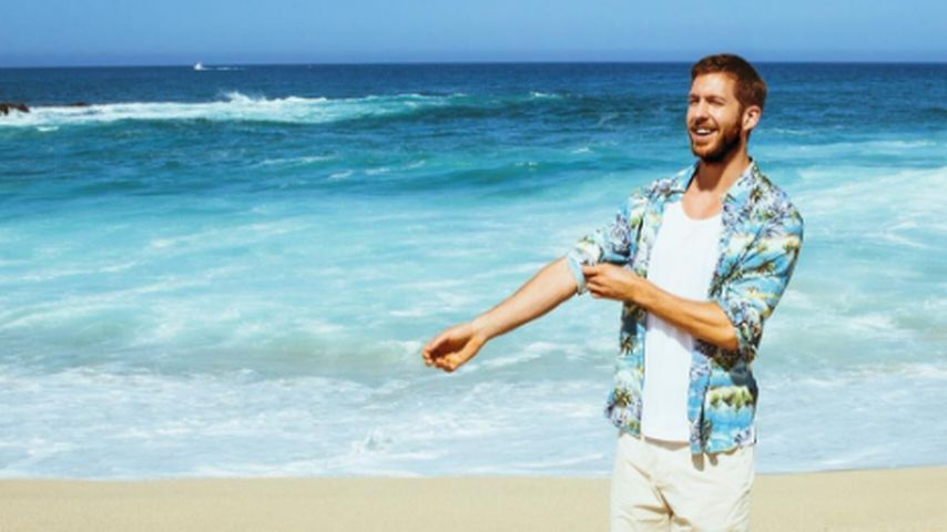 Calvin Harris am Strand