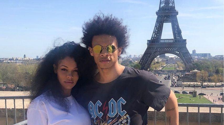 Candice Brook und Leroy Sané 2017 in Paris