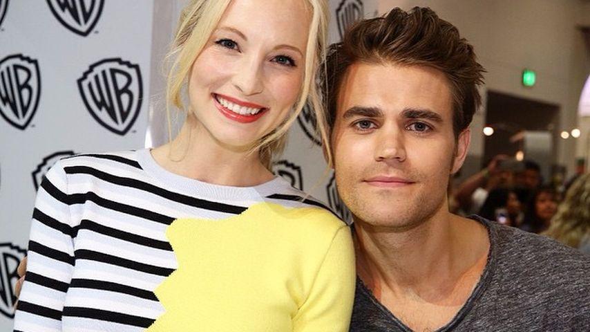 """Candice King und Paul Wesley bei einem Promotion-Termin für """"Vampire Diaries"""""""