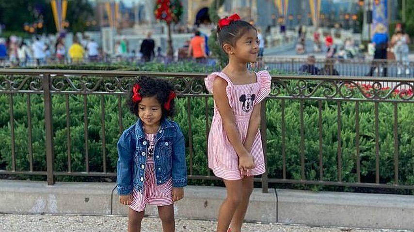 Capri Kobe und Bianka Bella Bryant in Disney World, 2020