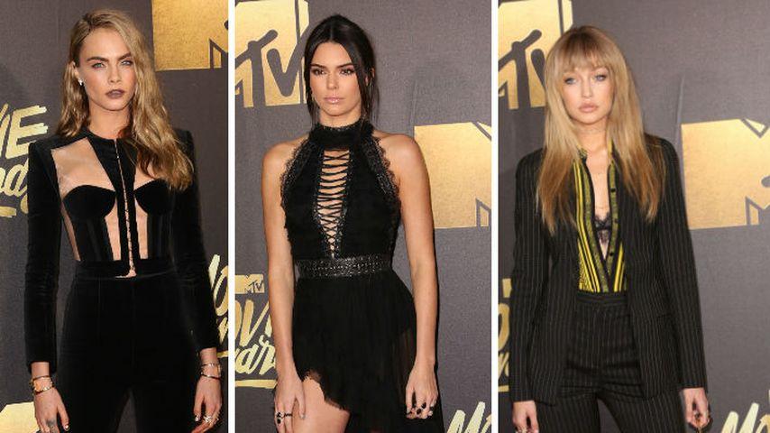 Abgesprochen? Cara, Gigi & Kendall im Einheitslook