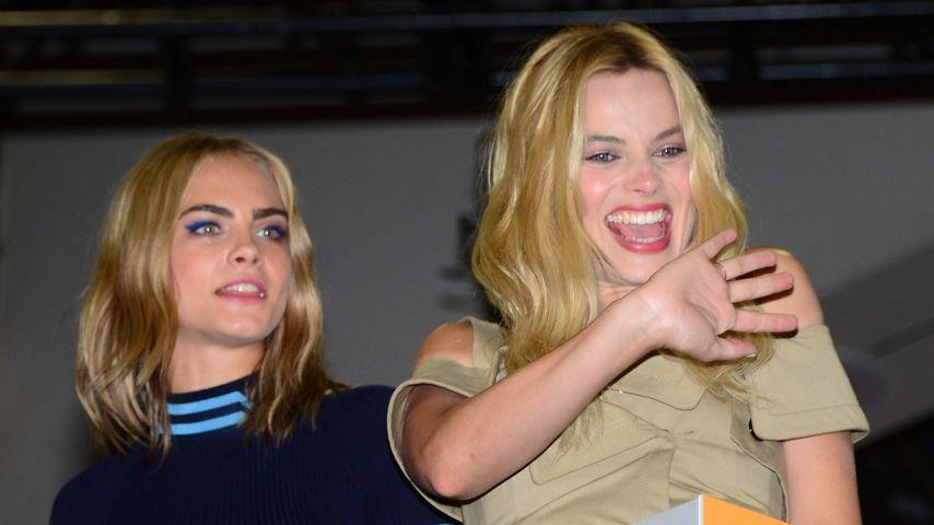 Cara Delevingne und Margot Robbie auf der Comic-Con in San Diego