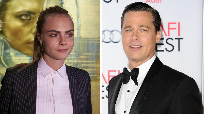 Neuer Filmstar? Cara Delevingne ist Schützling von Brad Pitt