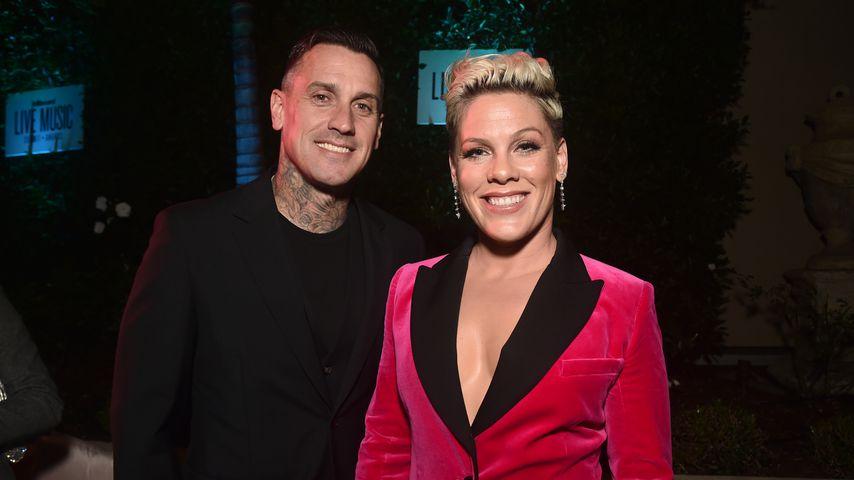 Carey Hart und Pink im November 2019