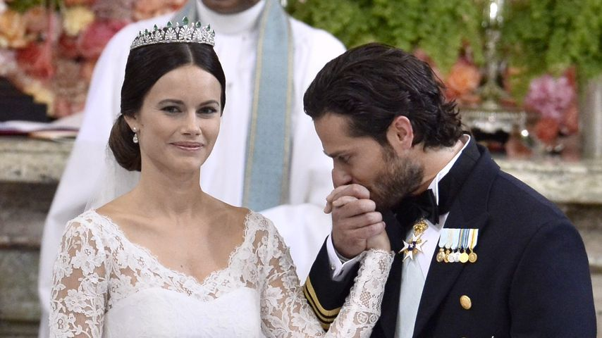 Prinz Carl Philip von Schweden und Prinzessin Sofia an ihrer Hochzeit