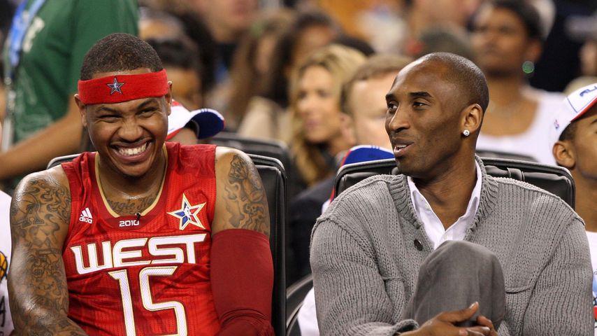 Die Basketball-Stars Carmelo Anthony und Kobe Bryant
