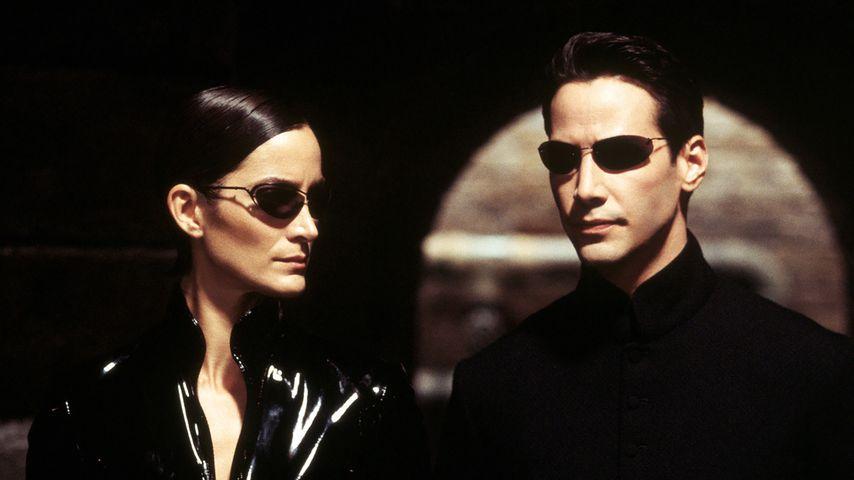 "Carrie-Anne Moss und Keanu Reeves in ""Matrix Reloaded"""