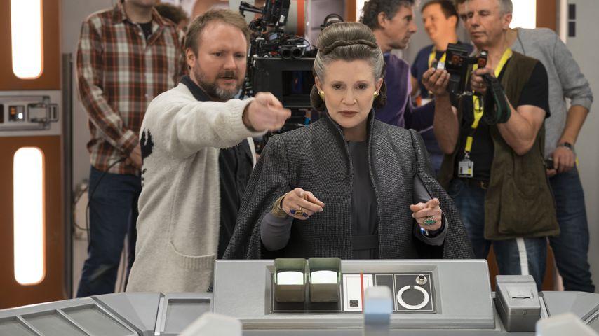 """Carrie Fisher hinter den Kulissen von """"Star Wars: Die letzten Jedi"""""""
