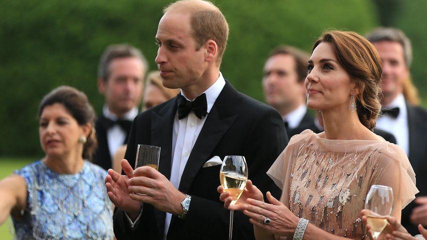 Prinz William und Ehefrau Kate bei der Ankunft zum Gala Dinner