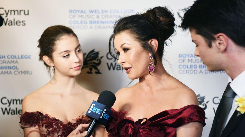 Catherine Zeta-Jones mit ihren Kindern Carys und Dylan