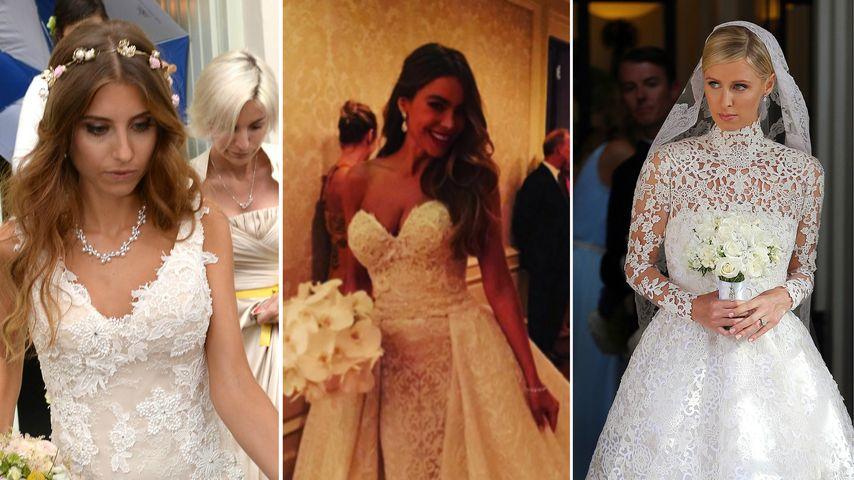 Echte Traumbräute: Die schönsten Promi-Hochzeitskleider 2015
