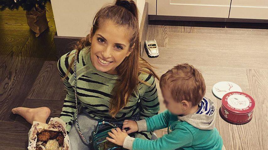 Cathy Hummels und ihr Sohn Ludwig im Dezember 2019
