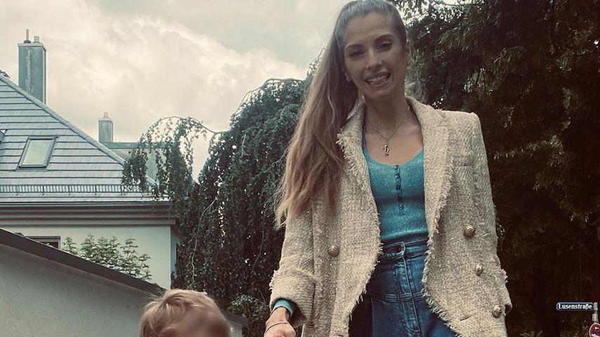 So groß ist Cathy Hummels' Sohn Ludwig schon geworden