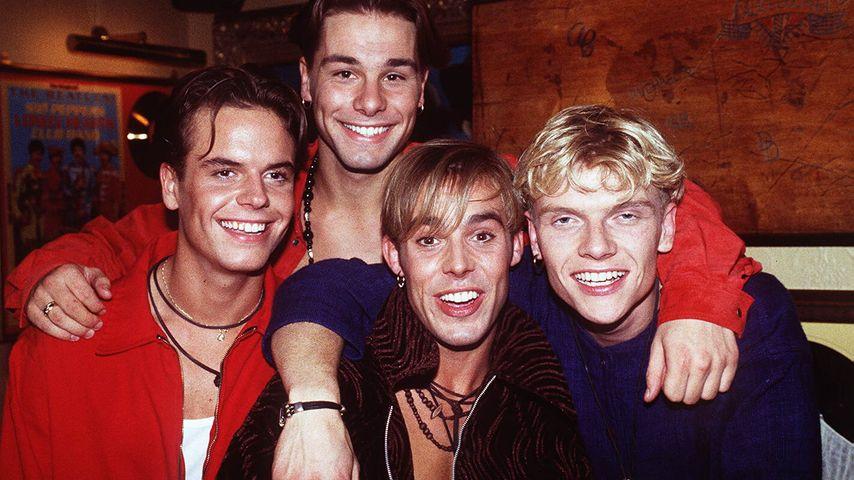 Lee Baxter, Eloy de Jong, Benjamin Boyce & Bastiaan Ragas (v.l.) 1994 bei GZSZ