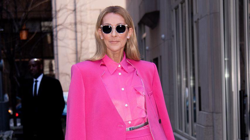 In knalligem Pink: Celine Dion setzt cooles Mode-Statement
